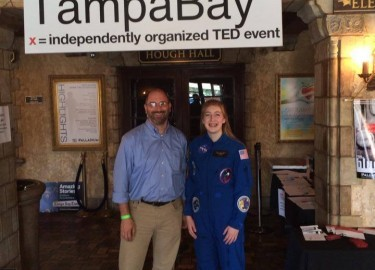 Sean Costello and Astronaut Abby