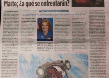 El Heraldo Astronaut Abby The Mars Generation