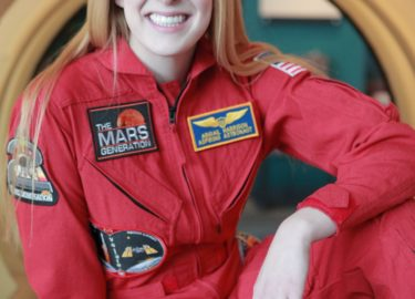 Astronaut Abby Red Flight Suit