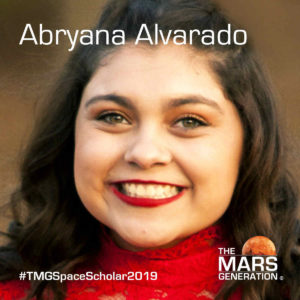 Abryana Alvarado Space Camp Scholarship Winner 2019