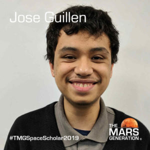 Jose Guillen Space Camp Scholarship Winner 2019