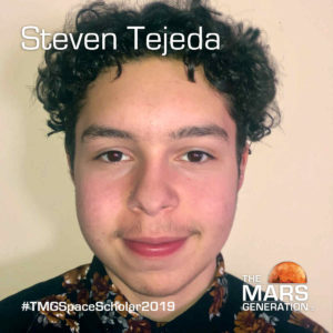 Steven Tejeda Space Camp Scholarship Winner 2019