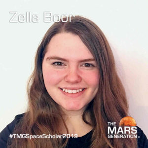 Zella Boor Space Camp Scholarship Winner 2019