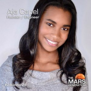 Aja Capel_24 Under 24_Recipient_STEM Awards_The Mars Generation_2019