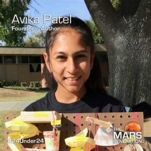 Avika Patel_24 Under 24_Recipient_STEM Awards_The Mars Generation_2019