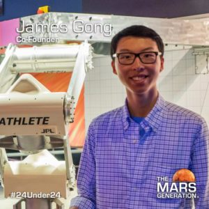 James Gong_24 Under 24_Recipient_STEM Awards_The Mars Generation_2019