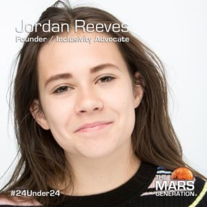Jordan Reeves_24 Under 24_Recipient_STEM Awars_The Mars Generation_2019