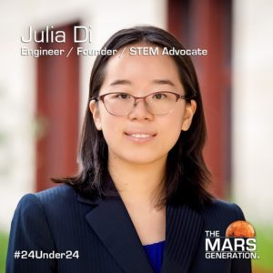 Julia Di_24 Under 24_Recipient_STEM Awards_The Mars Generation_2019