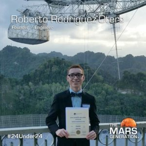 Roberto Rodrigues-Otero_24 Under 24_Recipient_STEM Awards_The Mars Generation_2019