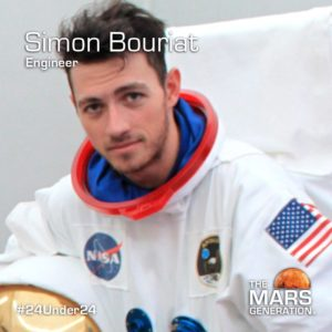 Simon Bouriat_24 Under 24_Recipient_STEM Awards_The Mars Generation_2019