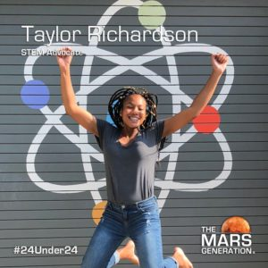 Tayor Richardson_24 Under 24_Recipient_STEM Awards_The Mars Generation_2019