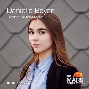 Mars Generation STEM Awards 2020 Danielle Boyer Founder STEAM Advocate
