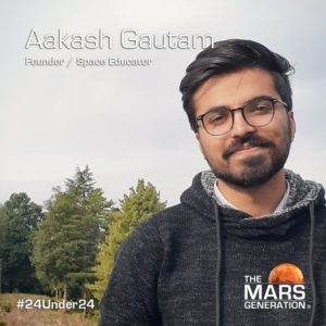 Mars Generation STEM awards 2020 Aakash Gautam Founder Space Educator