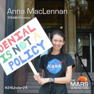 Mars Generation STEM awards 2020 Anna MacLennan STEAM Educator