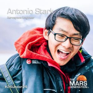 Mars Generation STEM awards 2020 Antonio Stark Aerospace Engineer