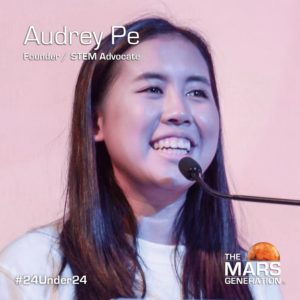 Mars Generation STEM awards 2020 Audrey Pe Founder STEM Advocate