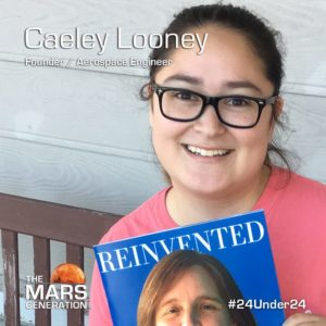 Mars Generation STEM awards 2020 Caeley Looney Founder Aerospace Engineer