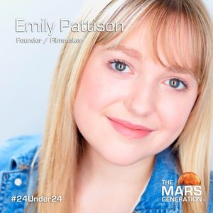Mars Generation STEM awards 2020 Emily Pattison Founder Filmmaker