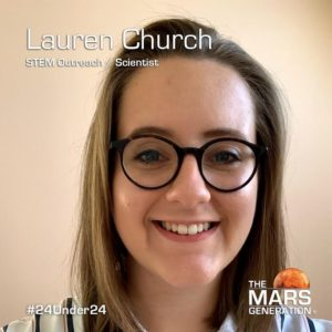 Mars Generation STEM awards 2020 Lauren Church STEM Outreach Scientist