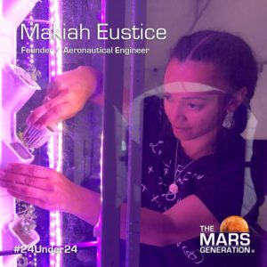 Mars Generation STEM awards 2020 Makiah Eustice Founder Aeronautical Engineer