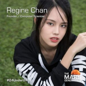 Mars Generation STEM awards 2020 Regine Chan Founder Computer Scientist