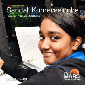 Mars Generation STEM awards 2020 Sandali Kumarasinghe Founder Space Advocate