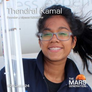 Mars Generation STEM awards 2020 Thendral Kamal Founder Space Advocate